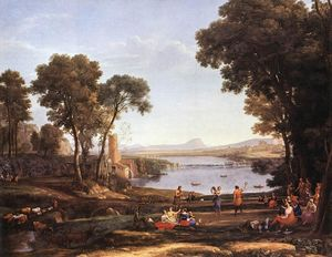 Claude Lorrain (Claude Gellée) - Landscape with Water Mill