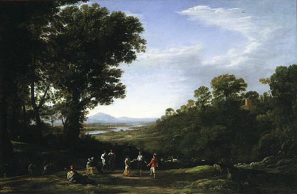 Villagers Dancing, Oil On Canvas by Claude Lorrain (Claude Gellée)