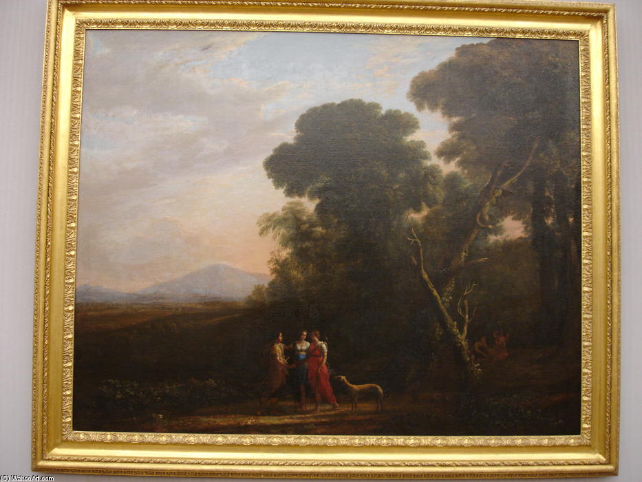 Roman Ideal Landscape with Cephalus, Procris, and Diana, 1635 by Claude Lorrain (1600-1682, France)