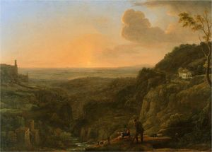 Claude Lorrain - A view of the Roman Campagna from Tivoli