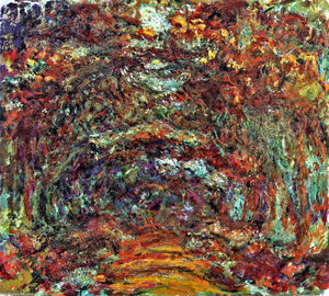 Claude Monet - The Rose Path, Giverny