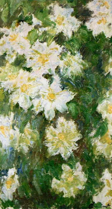 White Clematis, Oil On Canvas by Claude Monet (1840-1926, France)