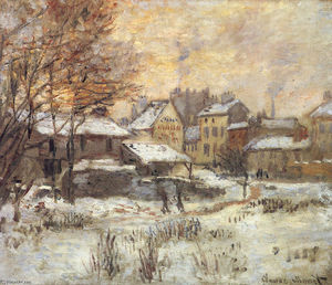 Claude Monet - Snow Effect with Setting Sun