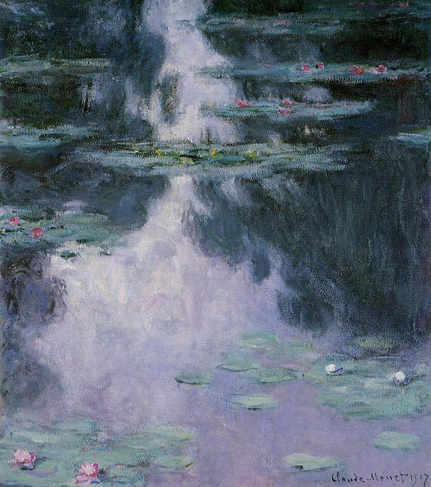 Water Lilies (Nympheas), Oil On Canvas by Claude Monet (1840-1926, France)