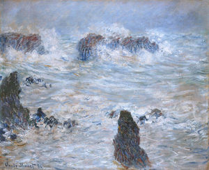 Claude Monet - Storm, off the Coast of Belle-Ile