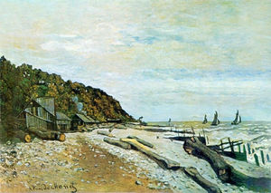 Claude Monet - Boatyard near Honfleur