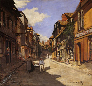 Claude Monet - The La Rue Bavolle at Honfleur 2
