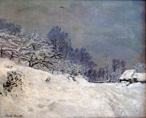 Claude Monet - The Road in front of Saint-Simeon Farm in Winter