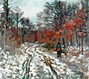 Claude Monet - Path through the Forest, Snow Effect
