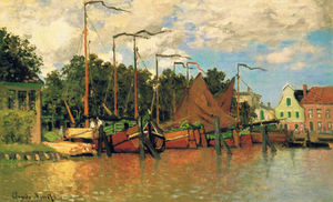 Claude Monet - Boats at Zaandam
