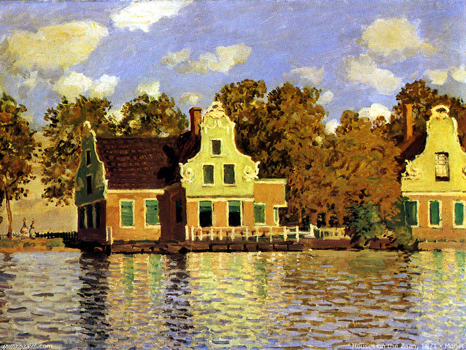 Houses on the Zaan River at Zaandam, 1871 by Claude Monet (1840-1926, France)