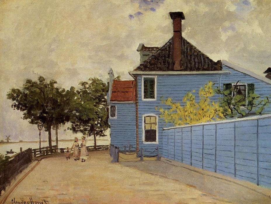 The Blue House at Zaandam, 1871 by Claude Monet (1840-1926, France)