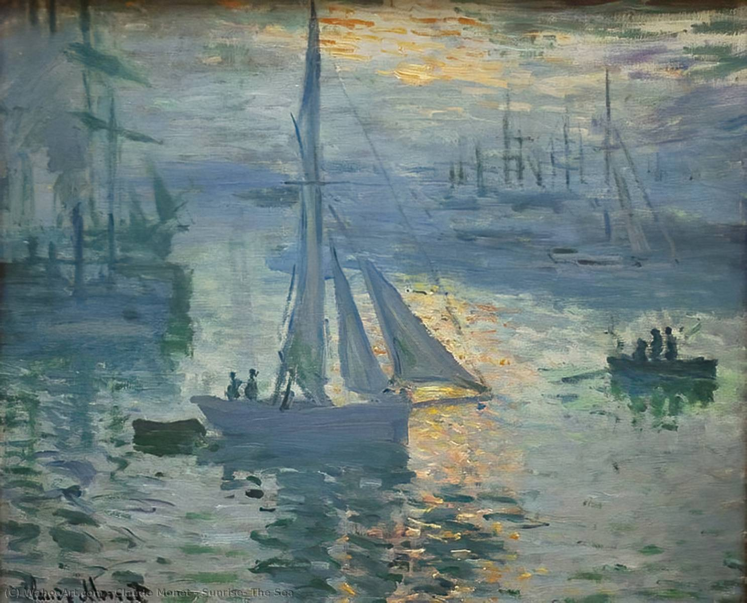 Sunrise, The Sea, 1873 by Claude Monet (1840-1926, France)