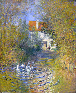 Claude Monet - Geese in the creek