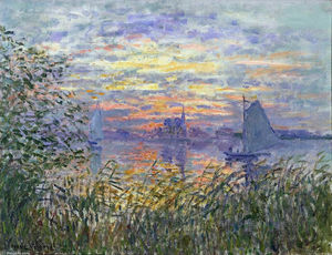 Claude Monet - Sunset on the Siene