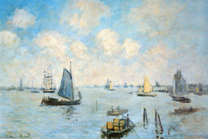 Claude Monet - The Sea at Amsterdam