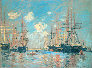 Claude Monet - The Sea, Port in Amsterdam
