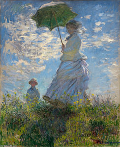Claude Monet - The Promenade, Woman with a Parasol