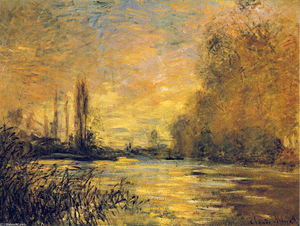 Claude Monet - The Small Arm of the Seine at Argenteuil