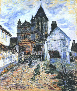 Claude Monet - Vetheuil, The Church