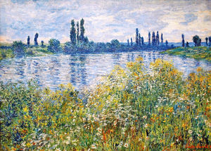 Claude Monet - Flowers on the Banks of Seine near Vetheuil