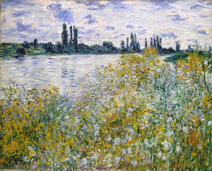 Claude Monet - Isle of Flowers on Siene near Vetheuil