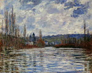 Claude Monet - Flood of the Seine at Vetheuil