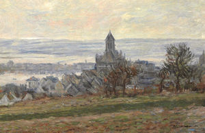 Claude Monet - The Church of Vetheuil
