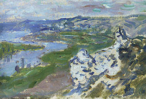 Claude Monet - The Seine, seen from the heights Chantemesle