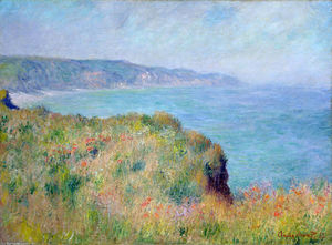 Claude Monet - Cliff near Pourville