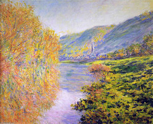 Claude Monet - Banks of the Seine at Jeufosse, Autumn