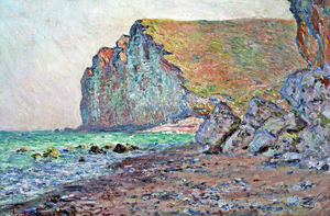 Claude Monet - Cliffs of Les Petites-Dalles