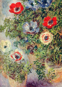 Claude Monet - Stilll Life with Anemones