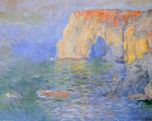Claude Monet - The Manneport, Reflections of Water
