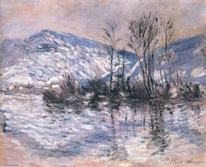 Claude Monet - The Seine at Port Villez, Snow Effect 02