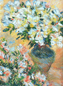 Claude Monet - White Azaleas in a Pot