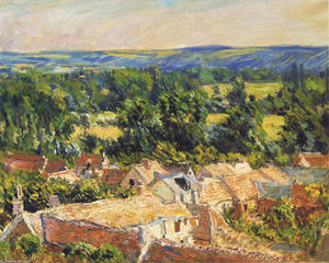 Claude Monet - View on village of Giverny
