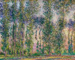 Order Museum Quality Copies | Poplars at Giverny, 1887 by Claude Monet (1840-1926, France) | WahooArt.com