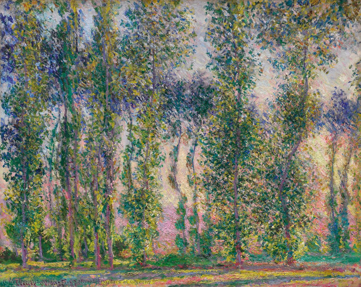 Order Painting Copy : Poplars at Giverny, 1887 by Claude Monet (1840-1926, France) | WahooArt.com