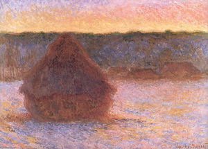 Claude Monet - Haystacks at Sunset, Frosty Weather