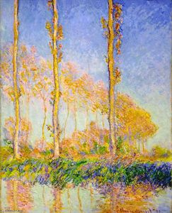 Claude Monet - Poplars, Autumn, Pink Effect