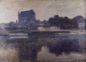 Claude Monet - Vernon Church in Fog