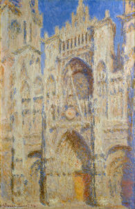Claude Monet - Rouen Cathedral, Portal in the Sun
