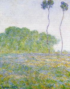 Claude Monet - Springtime. Meadow at Giverny