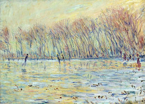 Claude Monet - Scaters in Giverny