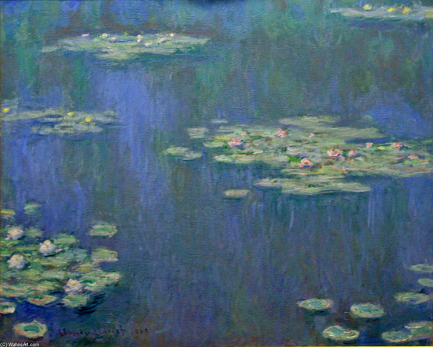 Water Lilies (16), 1905 by Claude Monet (1840-1926, France) | Reproductions Claude Monet | WahooArt.com