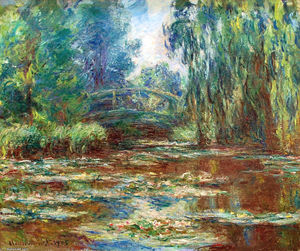 Claude Monet - Water Lily Pond and Bridge