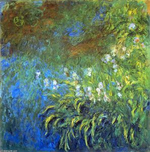 Claude Monet - Iris at the Sea-Rose Pond