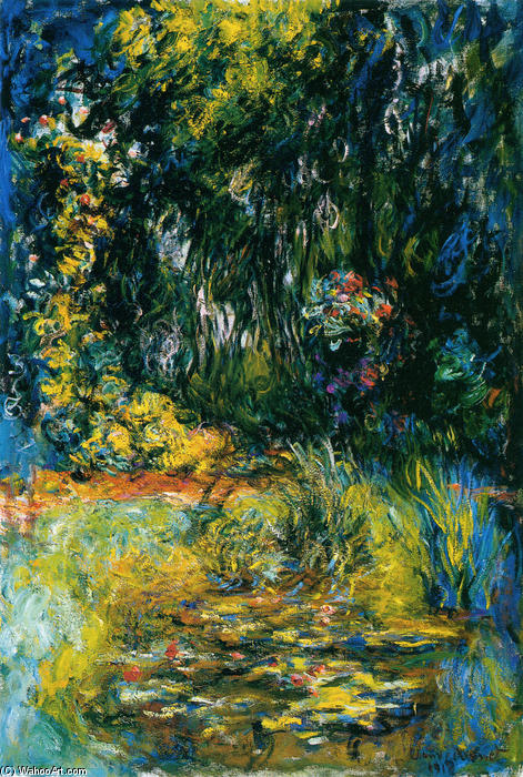 Water Lily Pond, 1918 by Claude Monet (1840-1926, France) | Paintings Reproductions Claude Monet | WahooArt.com