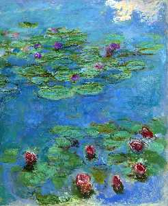 Claude Monet - Water Lilies Red